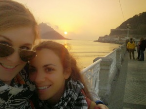 My Spanish Maria and I in San Sebastian